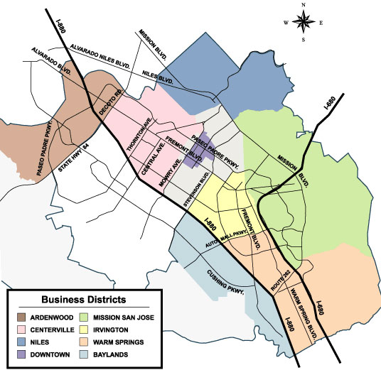 Fremont Business District Map