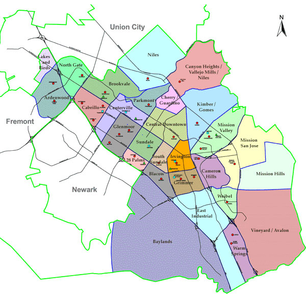 Fremont Neighborhood Map
