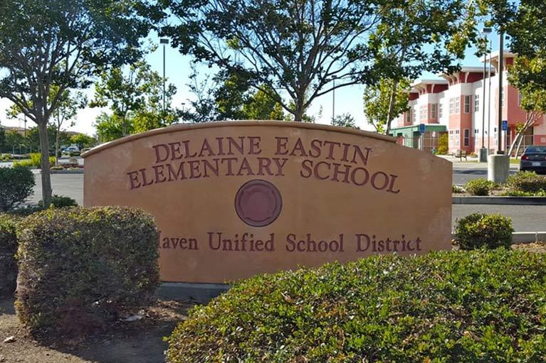 delaine Eastin Elementary School Entrance