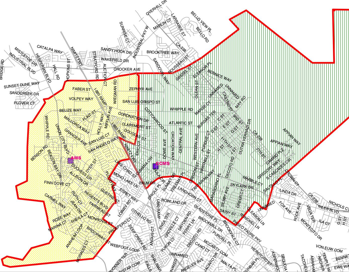 Union City School Map